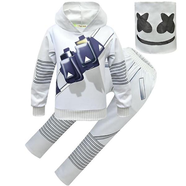 Marshmallow Kids Halloween DJ Cosply kostym 140 cm