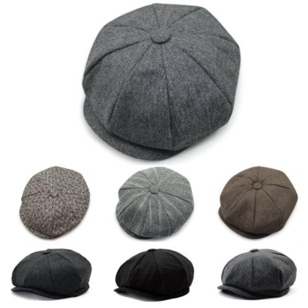 Herr Flat Hat Newsboy Cap Cabbie Peaky Blinders Baker Boy Hat dark grey