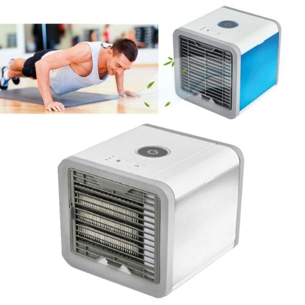 Mini Air Cooler Conditioner Portable 7LED Lights Desktop Fan