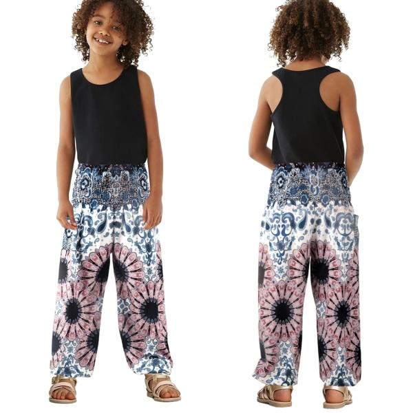Nya Kid Boys Girls Harem Pants Dance Casual Sports Loose Yoga As pics L