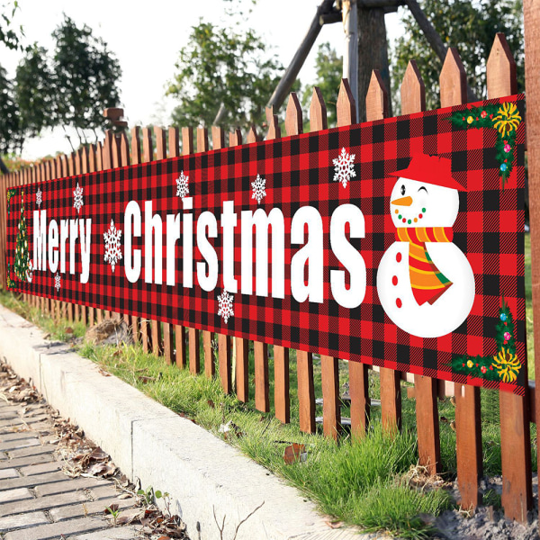 Utomhus banner flagga jul Xmas Santa Claus hängande dekor C