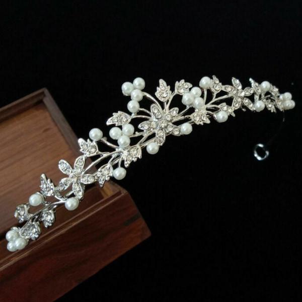Princess Wedding Bridal Prom Rhinestone Crystal Flower Hair Band