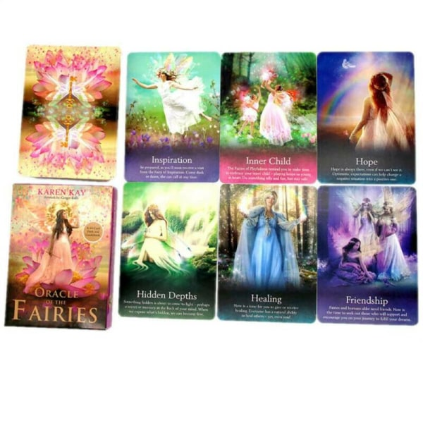 Tarotkort / Tarotkort Oracle Fairies 44-Card Fantasy Game