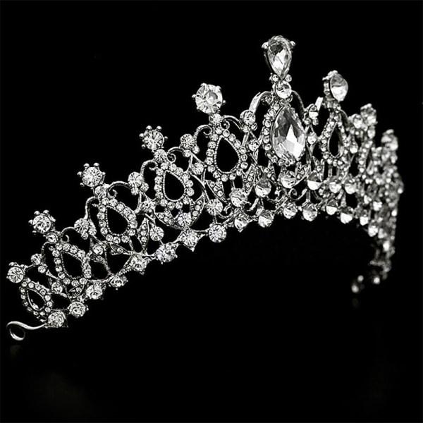 Bröllop Bröllopsfest Crystal Rhinestone Tiara Crown Headband Hot