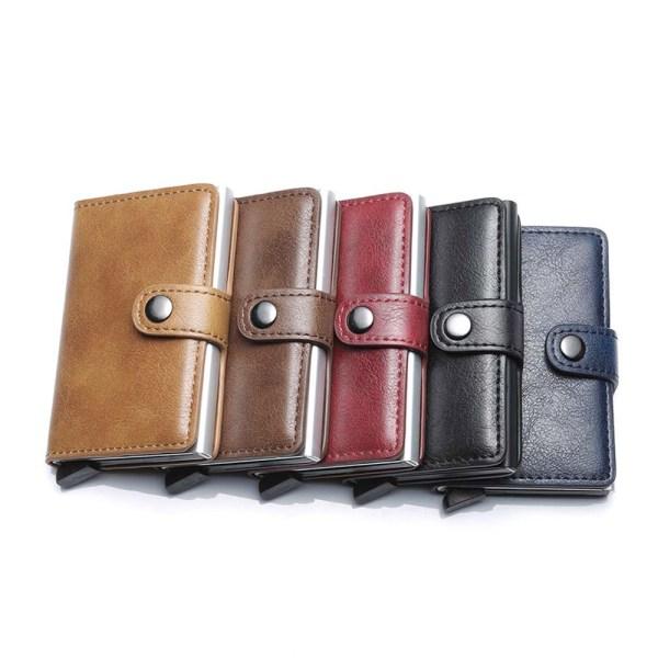 WF Credit Korthållares Slim Small Plånbok Pop Up RFID Plånbok Carbon Fiber Black