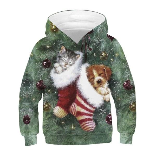 Vinterkatt Hundtryckt tröja Barnjul