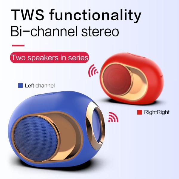Bluetooth högtalare 5.0 10W blå blå