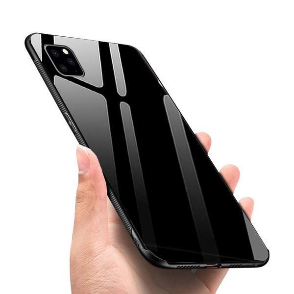Glass  fodral för iphone 12pro svart Black