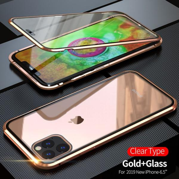 Dubbelsidig  för iphone 11 guld Green