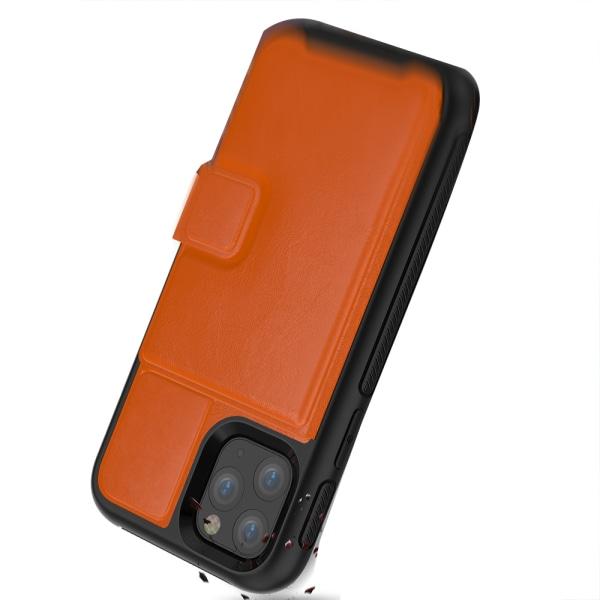 iPhone 11 Pro Max - Robust Skal med Kortfack Röd Röd