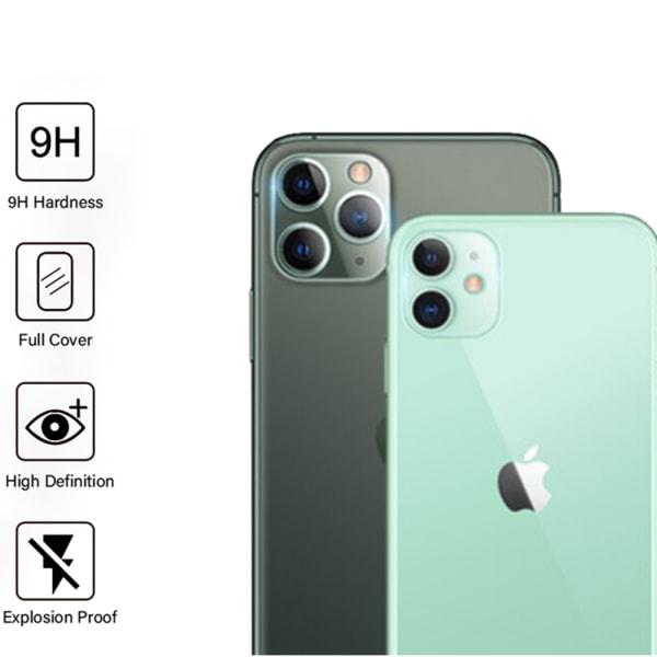 iPhone 11 2-PACK Bakre Kameralins Skärmskydd 9H 2.5D FullCover Transparent/Genomskinlig