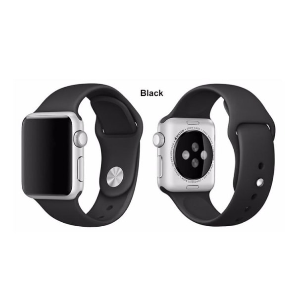 Apple Watch 38mm -  NORTH EDGE Stilrena Silikonarmband Grön L