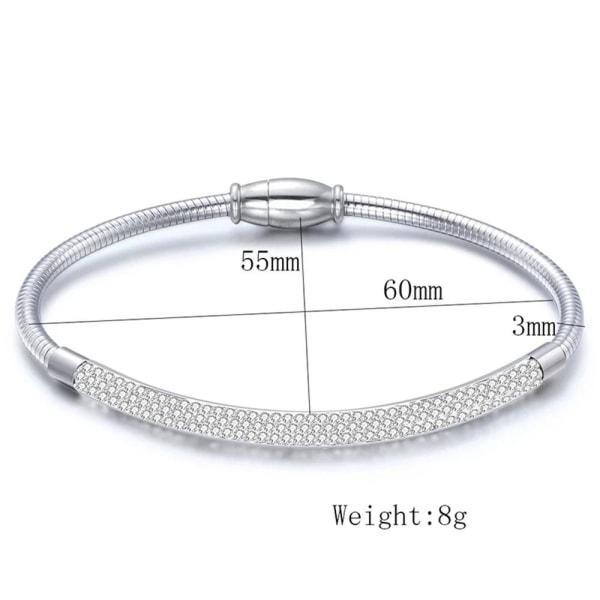 Elegant Hållbart Dam Armband Silver