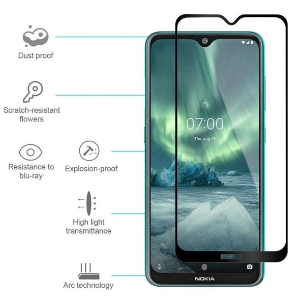 Nokia 6.2 3-PACK Skärmskydd 2.5D 9H 0,3mm HD-Clear Svart