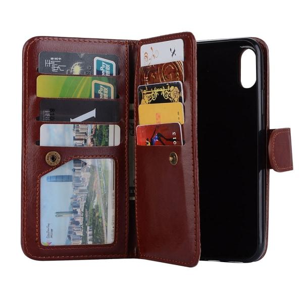 iPhone XR - 9-korts Plånboksfodral (LEMAN) Svart
