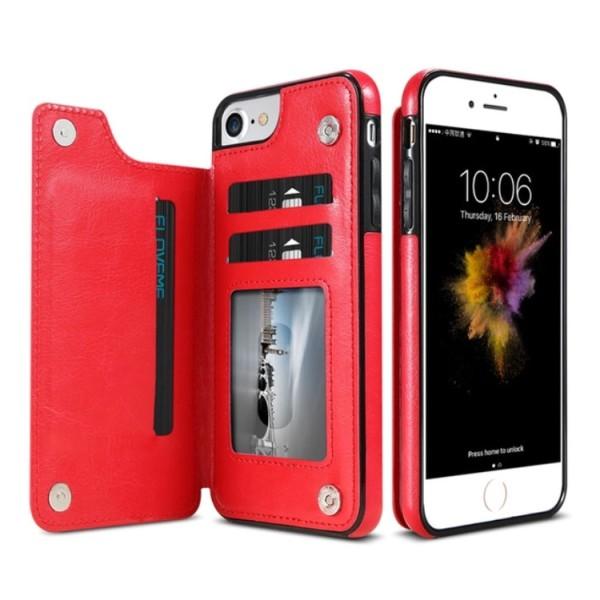 Läderskal med Plånbok/Kortfack från NKOBEE för iPhone 6/6S Plus Roséguld