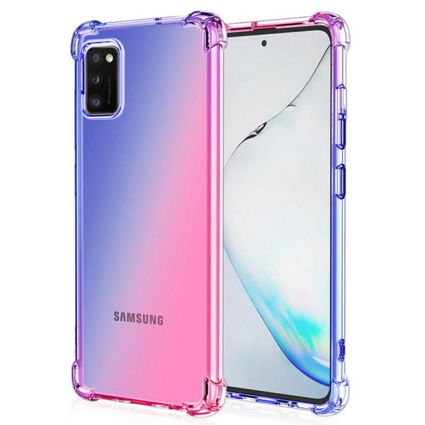 Samsung Galaxy A41 - Skyddande Silikonskal FLOVEME Rosa/Lila