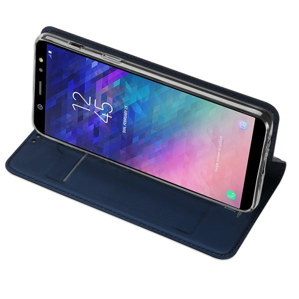 Samsung Galaxy A6 Plus - Fodral med Kortfack (SKIN Pro SERIES) Guld