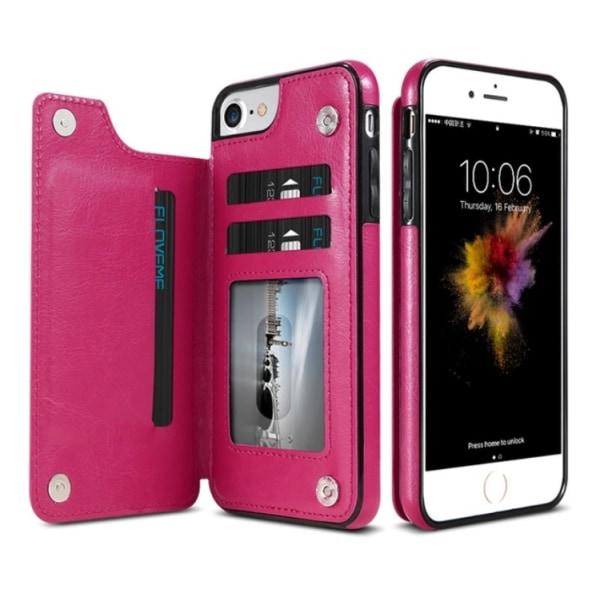 Läderskal med Plånbok/Kortfack från NKOBEE för iPhone 6/6S Roséguld