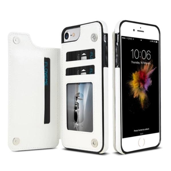 iPhone 6/6S - Läderskal med Plånbok/Kortfack från NKOBEE Vit