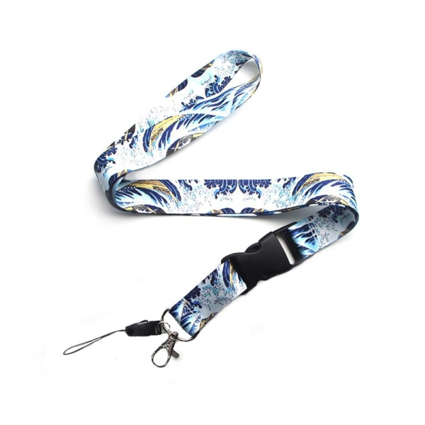 Stilrent Kanagawa Vatten Nyckelband Blå