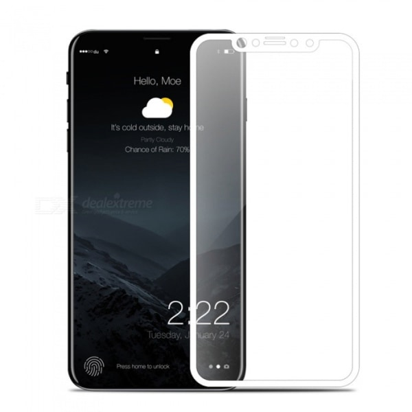 2-PACK HeliGuard Skärmskydd för iPhone X/XS (Full-cover) Vit