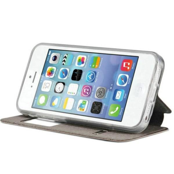 Stilrent Smartfodral med Fönster & Svarsfunktion för iPhone 7 Svart