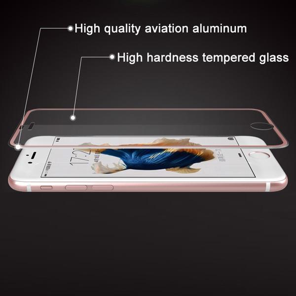 iPhone 7 (2-PACK) ProGuard Skärmskydd 3D Aluminiumram Guld