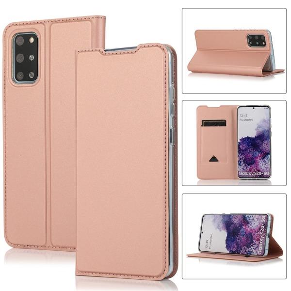 Stilsäkert Plånboksfodral - Samsung Galaxy S20 Plus Roséguld