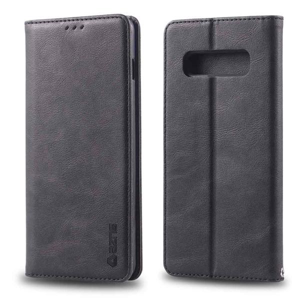 Elegant Praktiskt Plånboksfodral - Samsung Galaxy S10 Svart
