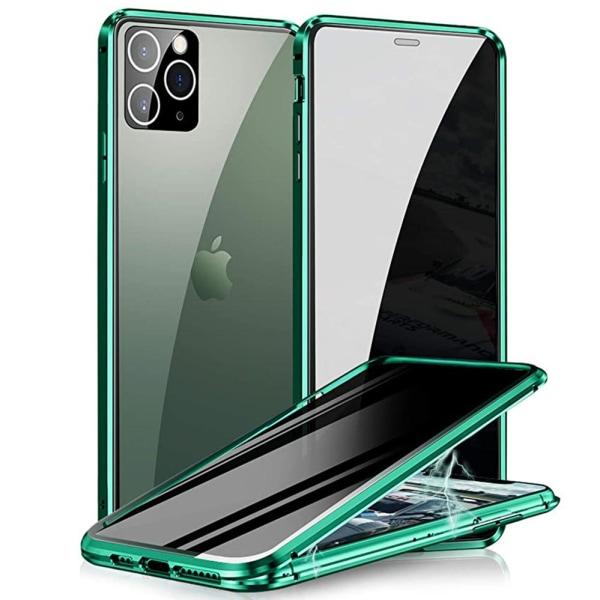 iPhone 12 Pro Max - Praktiskt Skyddande Magnetiskt Dubbelskal Silver