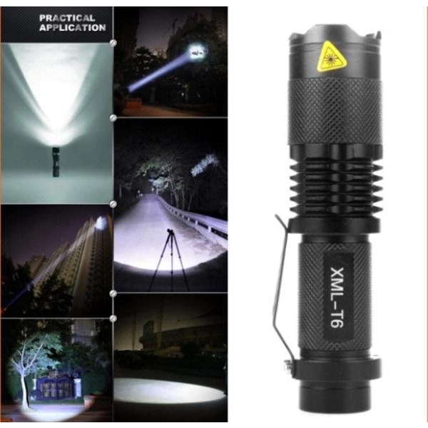 3000 LUMEN Nya 2016 praktiska High Power LED ficklampa CREE T6 Svart