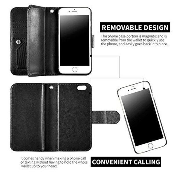 iPhone 6/6S - Stilrent Plånboksfodral i Läder av ROYBEN (SVART) Svart