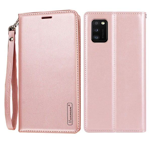 Samsung Galaxy A41 - Praktiskt Plånboksfodral (HANMAN) Roséguld
