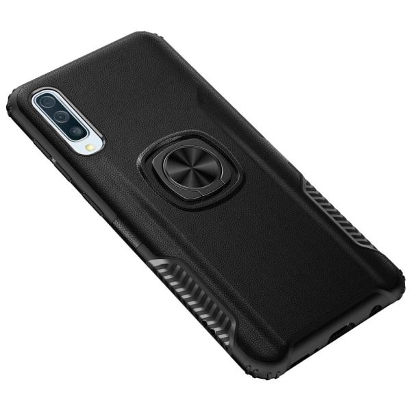 Samsung Galaxy A70 - Praktiskt Skyddsskal med Ringhållare Roséguld