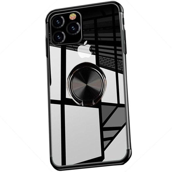 iPhone 11 Pro Max - Stilrent Skyddsskal med Ringhållare Roséguld