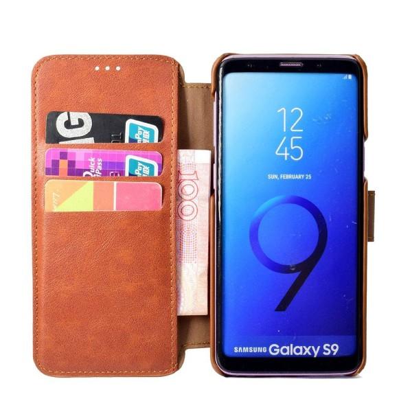 Samsung Galaxy S9Plus - Elegant Fodral med Plånbok Brun