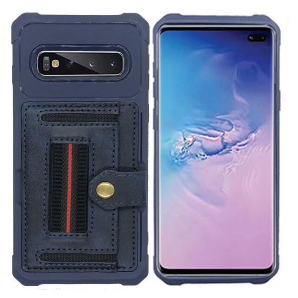 Smart Skal med Korthållare - Samsung Galaxy S10 Blå