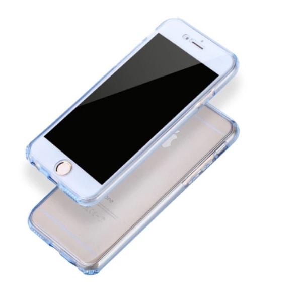 Dubbelt Silikonfodral med TOUCHFUNKTION för iPhone 6/6S Svart