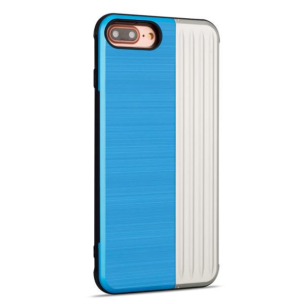 Elegant Skal med Korthållare (LEMAN) iPhone 7 Plus Ljusblå