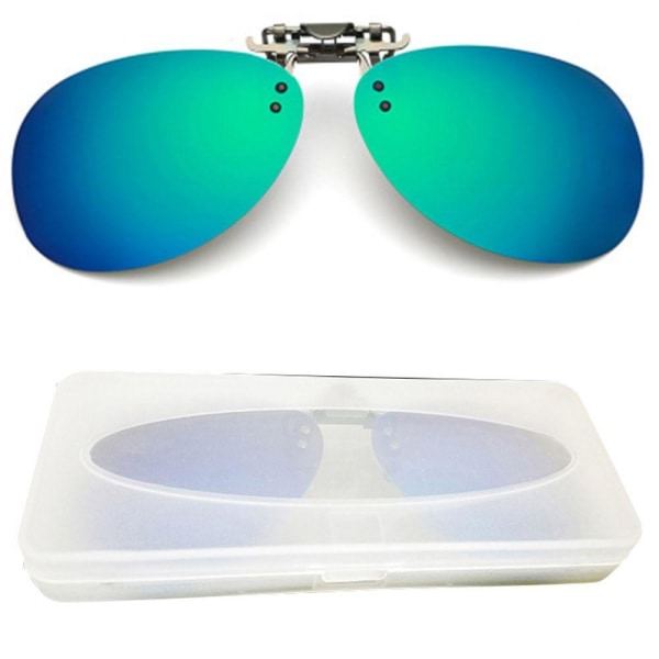 Praktiska Solglasögon Överdrag Blå