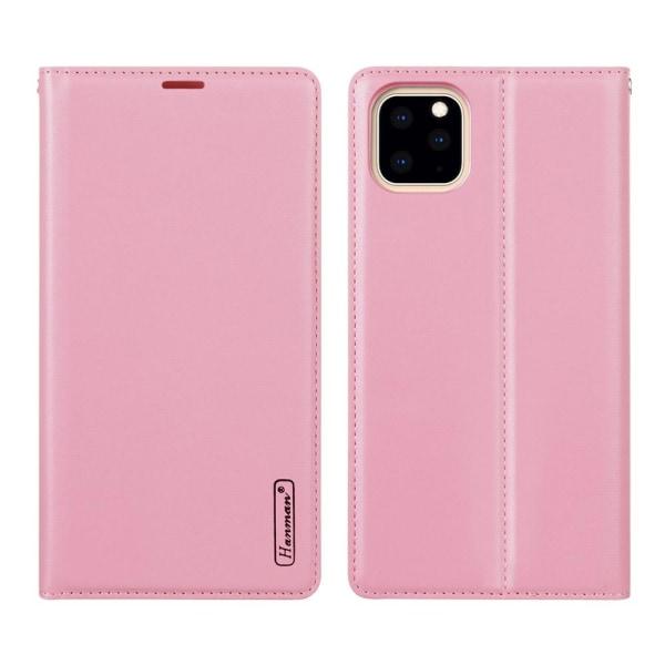 Elegant HANMAN Plånboksfodral - iPhone 11 Pro Ljusrosa