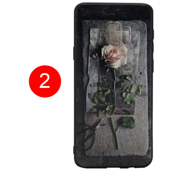 Blommiga Skyddsskal för Samsung Galaxy S9 Plus flerfärgad 2