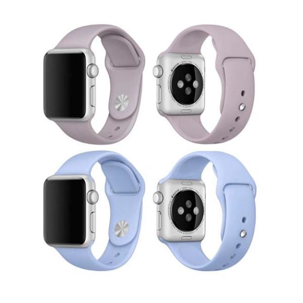 Apple Watch 38mm -  NORTH EDGE Stilrena Silikonarmband Rose Röd M