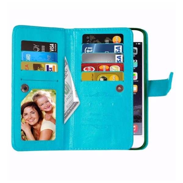 Elegant Praktiskt 9-korts Plånboksfodral för iPhone 7 PLUS Vit
