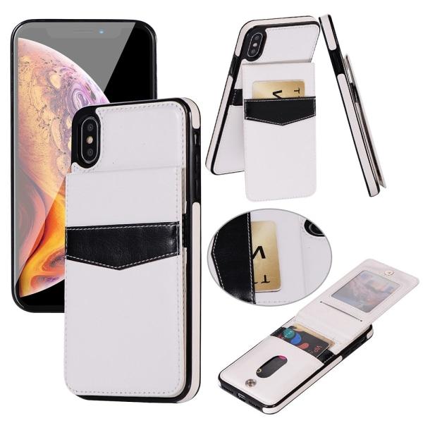 Praktiskt Skal med Kortfack iPhone XR (LEMAN) Vit