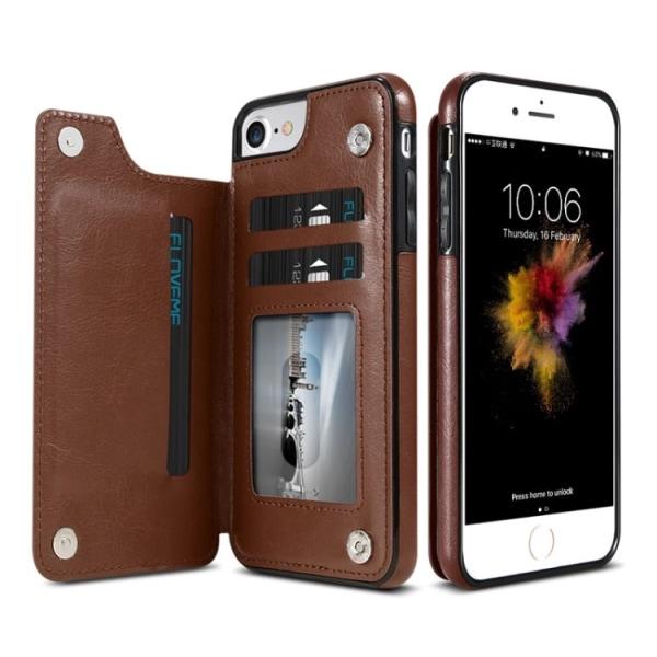 iPhone 6/6S - Läderskal med Plånbok/Kortfack från NKOBEE Rosa