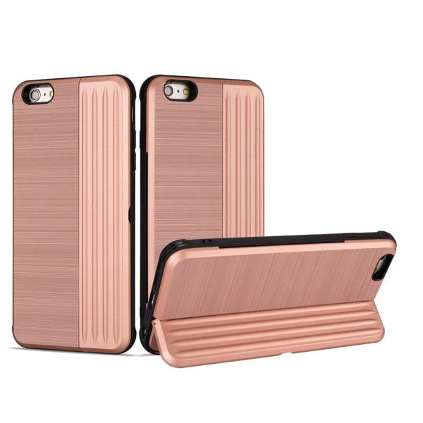 iPhone 6/6S Plus - Genomtänkt skal med kortfack Rosa Rosa