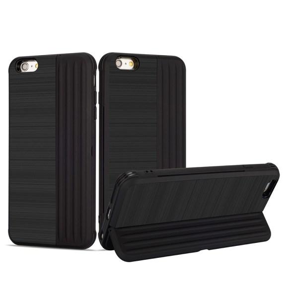 Klassiskt Skal med korthållare från LEMAN - iPhone 6/6S Plus Roséguld Roséguld
