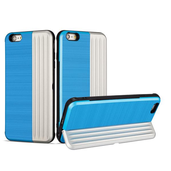 iPhone 6/6S Plus - Stilrent Skal med kortplats och mobilställ Guld Guld